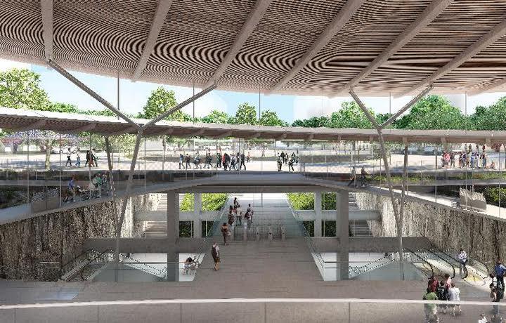Vue de la gare de Noisy-Champs. (Photo: Société du Grand Paris (SGP)