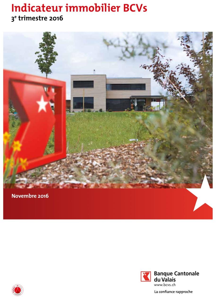 La Banque Cantonale du Valais publie son nouvel « Indicateur immobilier BCVs »