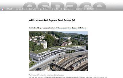 Nouvelle augmentation du bénéfice d'Espace Real Estate AG