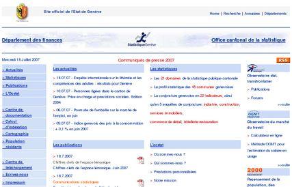 Net recul des transactions immobilières dans le canton de Genève entre 2005 et 2007