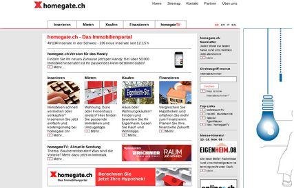Indice homegate.ch du marché des loyers - Octobre 2008