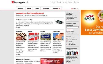 Indice homegate.ch du marché des loyers: novembre 2008