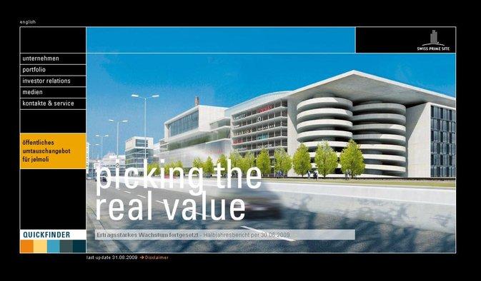 Swiss Prime Site : Poursuite d'une croissance fortement bénéficiaire
