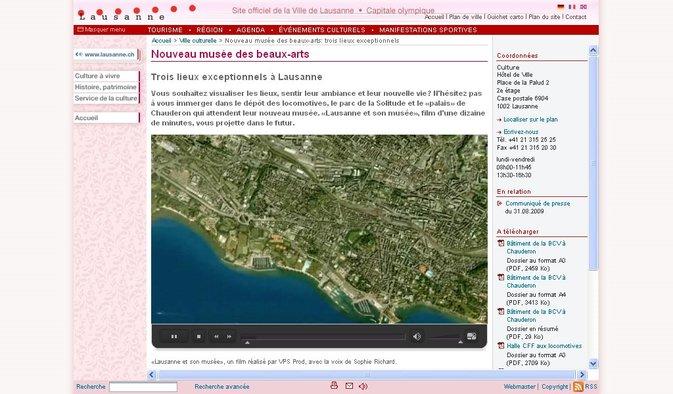 Nouveau musée cantonal des beaux-arts: Lausanne met en scène ses projets sur son site internet
