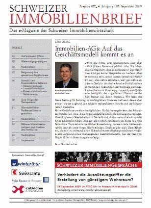 Schweizer Immobilienbrief - Das e-Magazin der Schweizer Immobilienwirtschaft