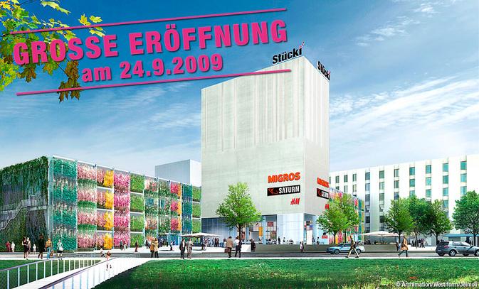 Stücki Shopping Basel feiert Eröffnung