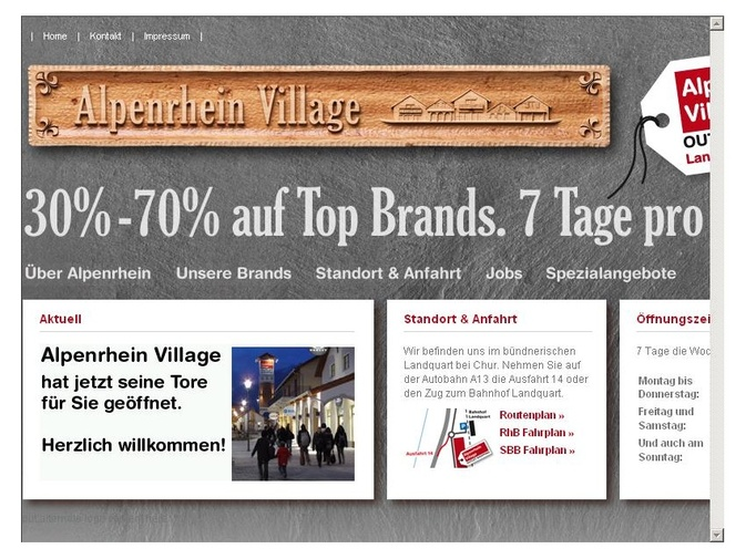 ING ouvre Alpenrhein Village Outlet Shopping à Landquart