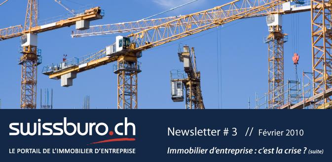 SWISSBURO.CH, le portail de l'immobilier d'entreprise - NEWSLETTER # 3