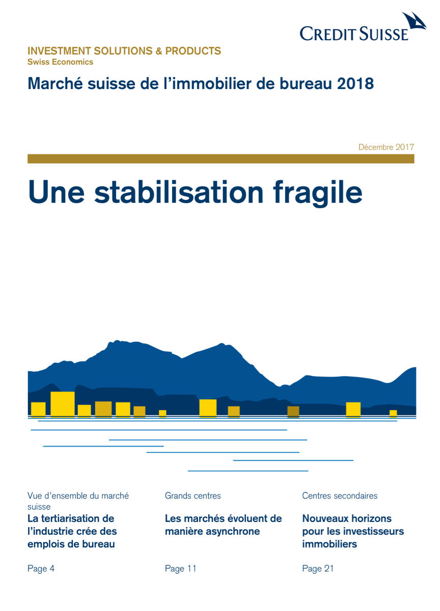 Immobilier d'entreprise en Suisse : stabilisation fragile