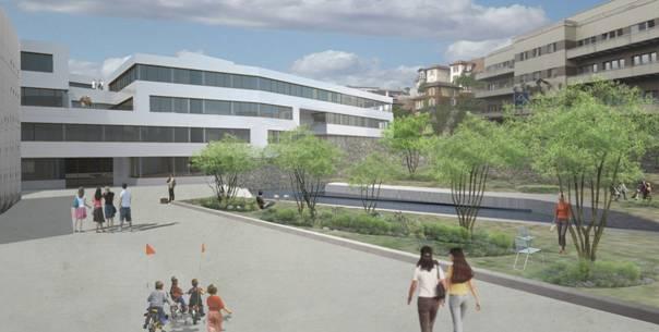 Bâtiment de la Microtechnique sur le site de la Maladière à Neuchâtel