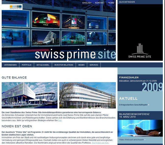 Swiss Prime Site : Forte hausse des revenus