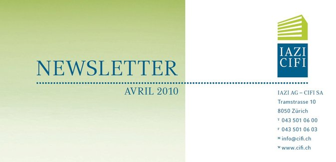 Newsletter - CIFI SA avril 2010
