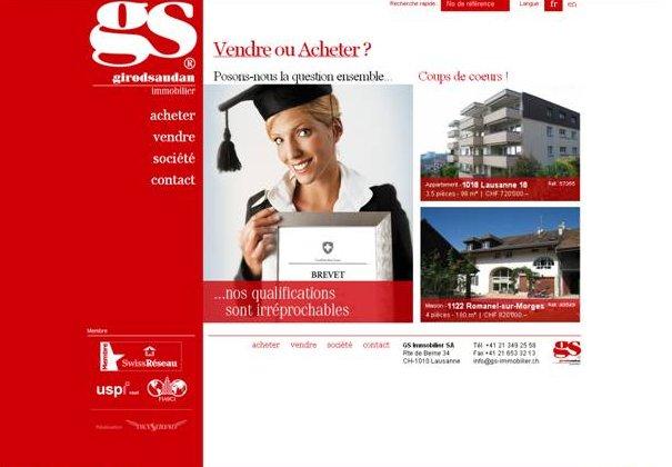 GS Immobilier a un nouveau site internet
