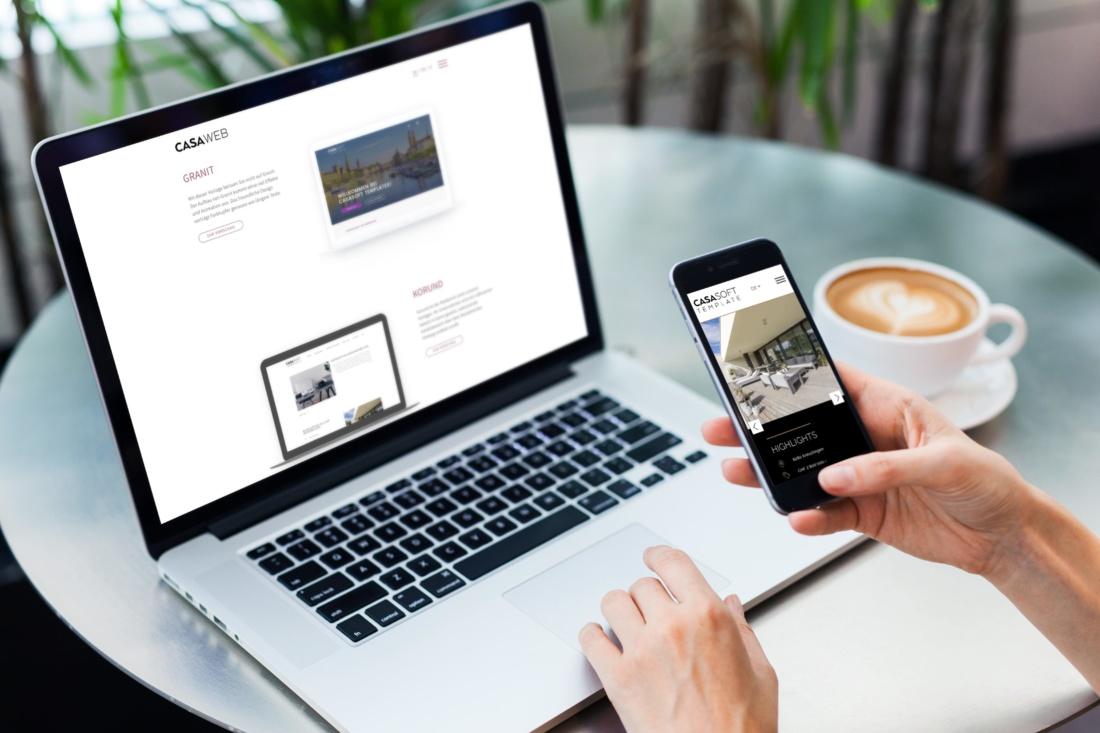 Webseiten für Immobilienprofis für CHF 2'500.–