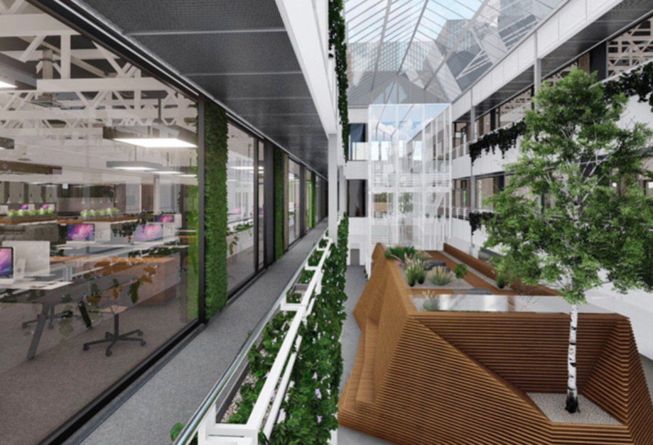 Regus locataire sur le site The Hive au printemps 2019
