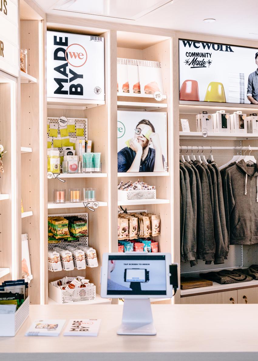 WeWork a lancé son premier espace de vente WeMrkt à Tribeca