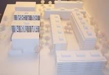 Maquette de la première étape des constructions du secteur «Petite Prairie». © Ville de Nyon / 2010