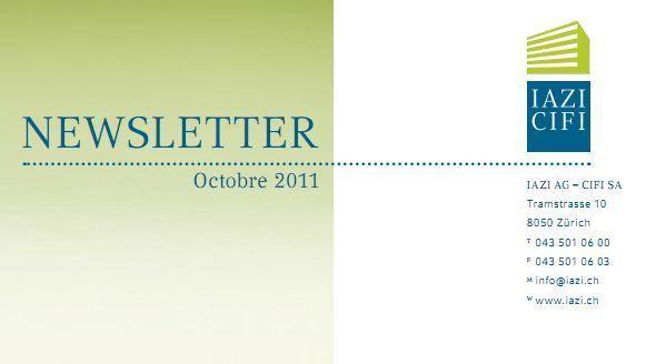 IAZI/CIFI : Lettre d'information octobre 2011