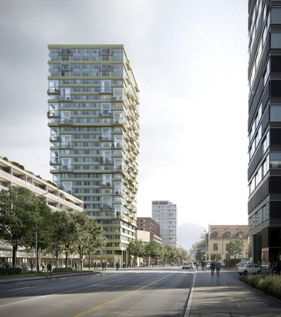 La façade établit des références horizontales aux bâtiments environnants (Image: ©Filippo Bolognese).