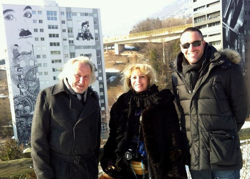 face aux tours de Gilamont : JF. Balmer, B. Agenin et P. Smets