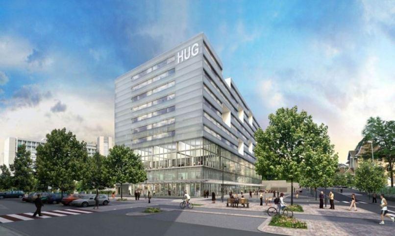 Début 2016, 368 lits seront disponibles dans l'élégant nouveau bâtiment des lits des Hôpitaux universitaires de Genève