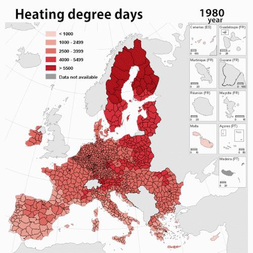 Le chauffage des bâtiments diminue, le refroidissement augmente