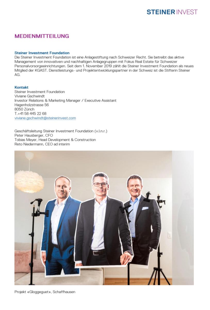 Steiner Investment Foundation auch 2020 weiterhin auf Erfolgskurs