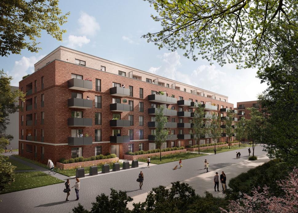 Quartier Turley, Mannheim : Construction d'un nouveau quartier résidentiel durable (image : © bloomimages GmbH, Hambourg).
