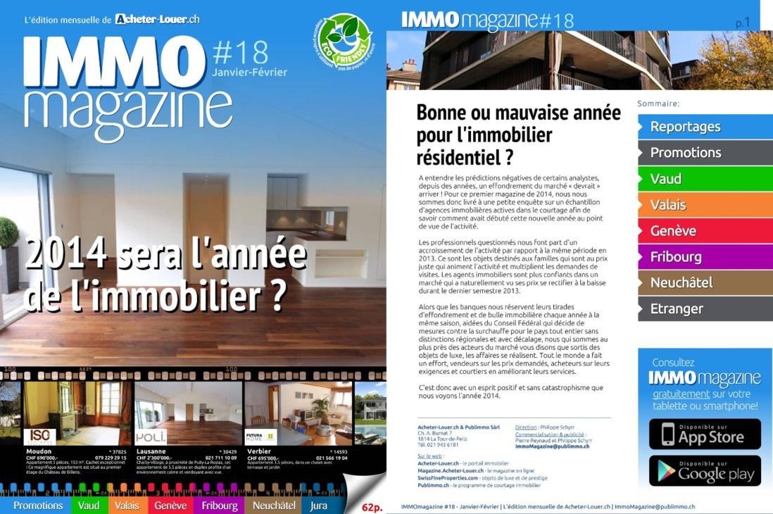 IMMO magazine No 18 janvier-février 2014 est en ligne