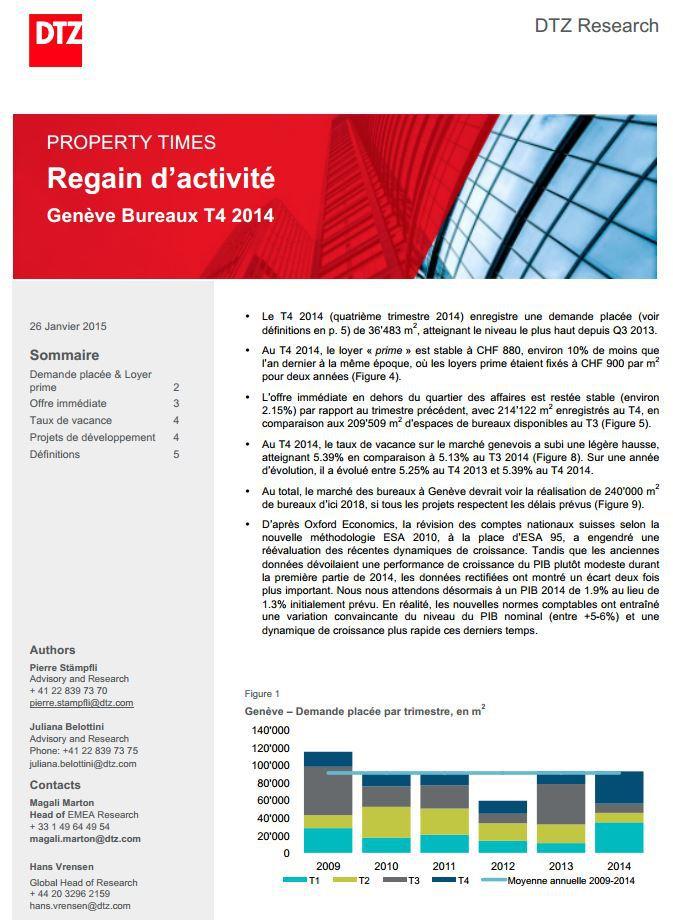 Genève Bureaux T4 2014