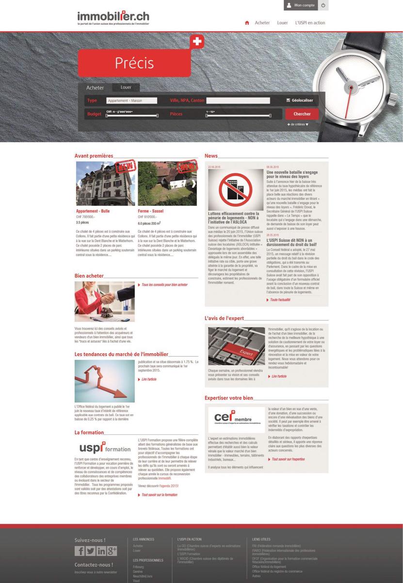 immobilier.ch : le nouveau portail de l'immobilier romand est en ligne