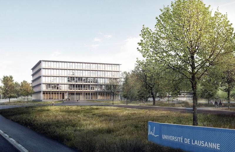 Ouverture du chantier de construction du Synathlon sur le campus de l'UNIL