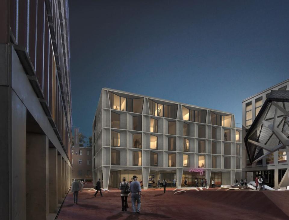 Lausanne: Pose de la première pierre de Moxy-Hotel