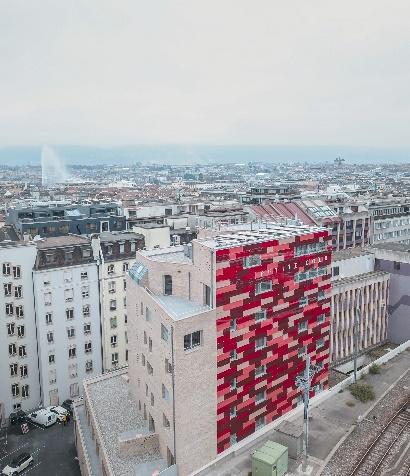 CORNE À VIN : Surélévation de 7 étages à la rue de Lausanne