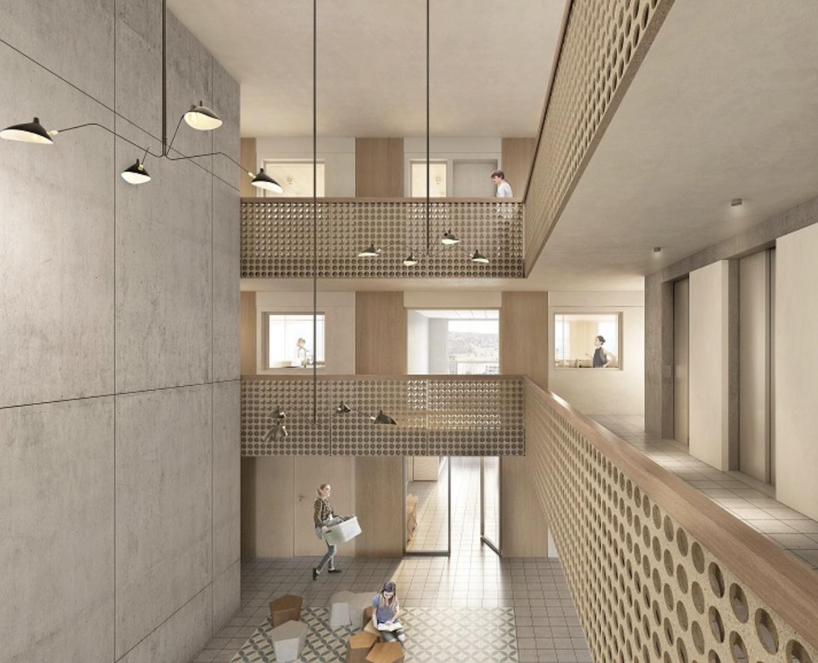 Le «Projet Pi» offre un concept résidentiel inédit avec piazza et clusters de voisinage verticaux (Image: ©Filippo Bolognese).