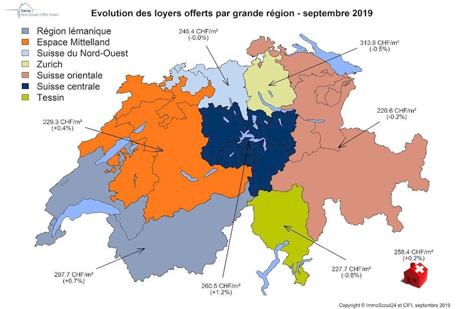 Les prix des locations repartent à la hausse – notamment en Suisse centrale