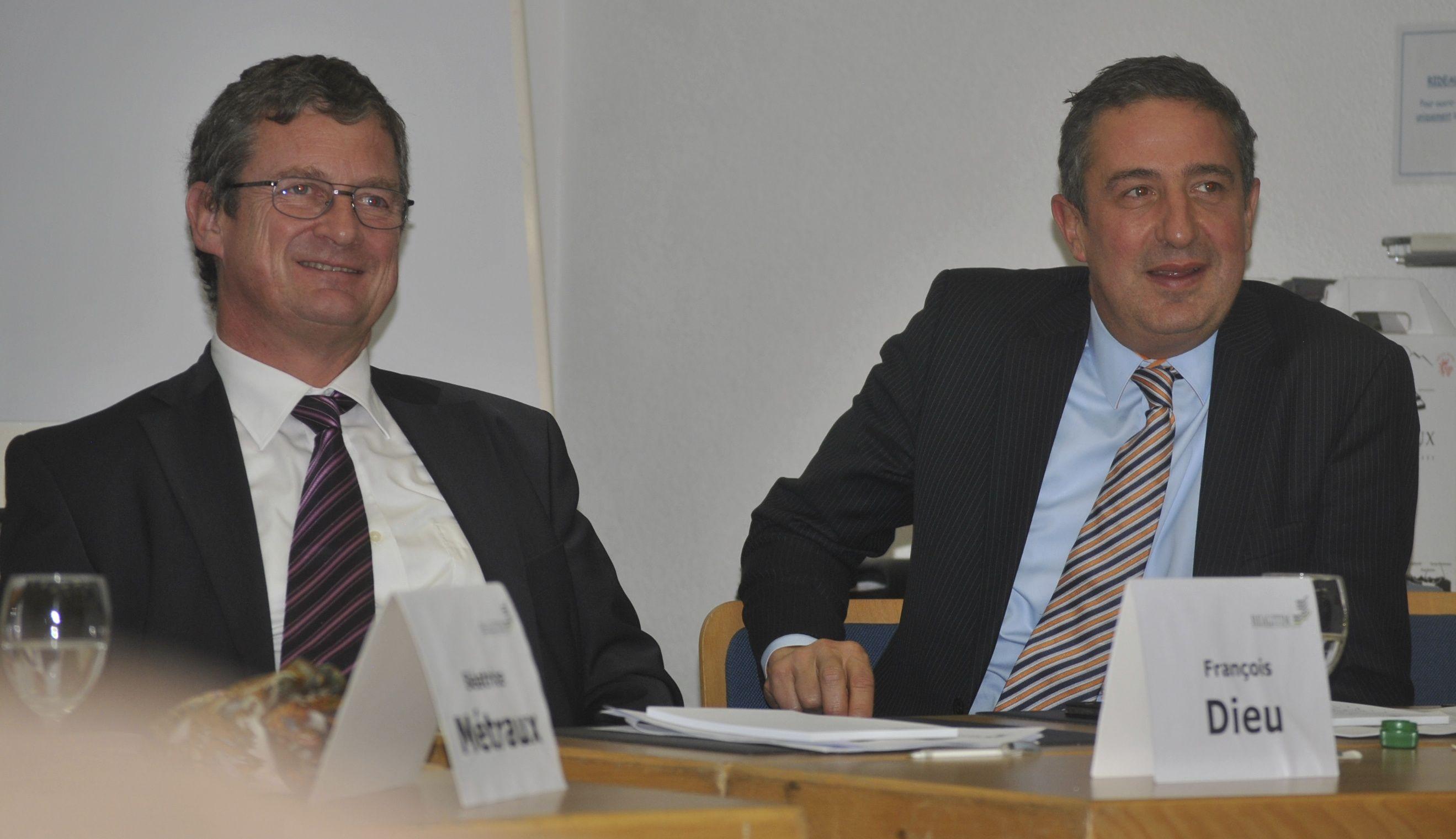 de gauche à droite : François Dieu, (Développeur immobilier, administrateur de MK Realitim Management SA) et Anthony Collé, (Administrateur délégué de Realitim).