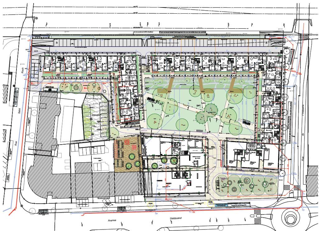 D'ici à la mi-2016, Implenia réalisera sur ce site cinq corps de bâtiments avec 205 appartements (dont 142 en propriété par étages), 86 logements pour étudiants et 2360 m2 de surfaces à usage de bureau et de commerce. Un parc central servira d'espace de rencontre et de détente en milieu urbain.