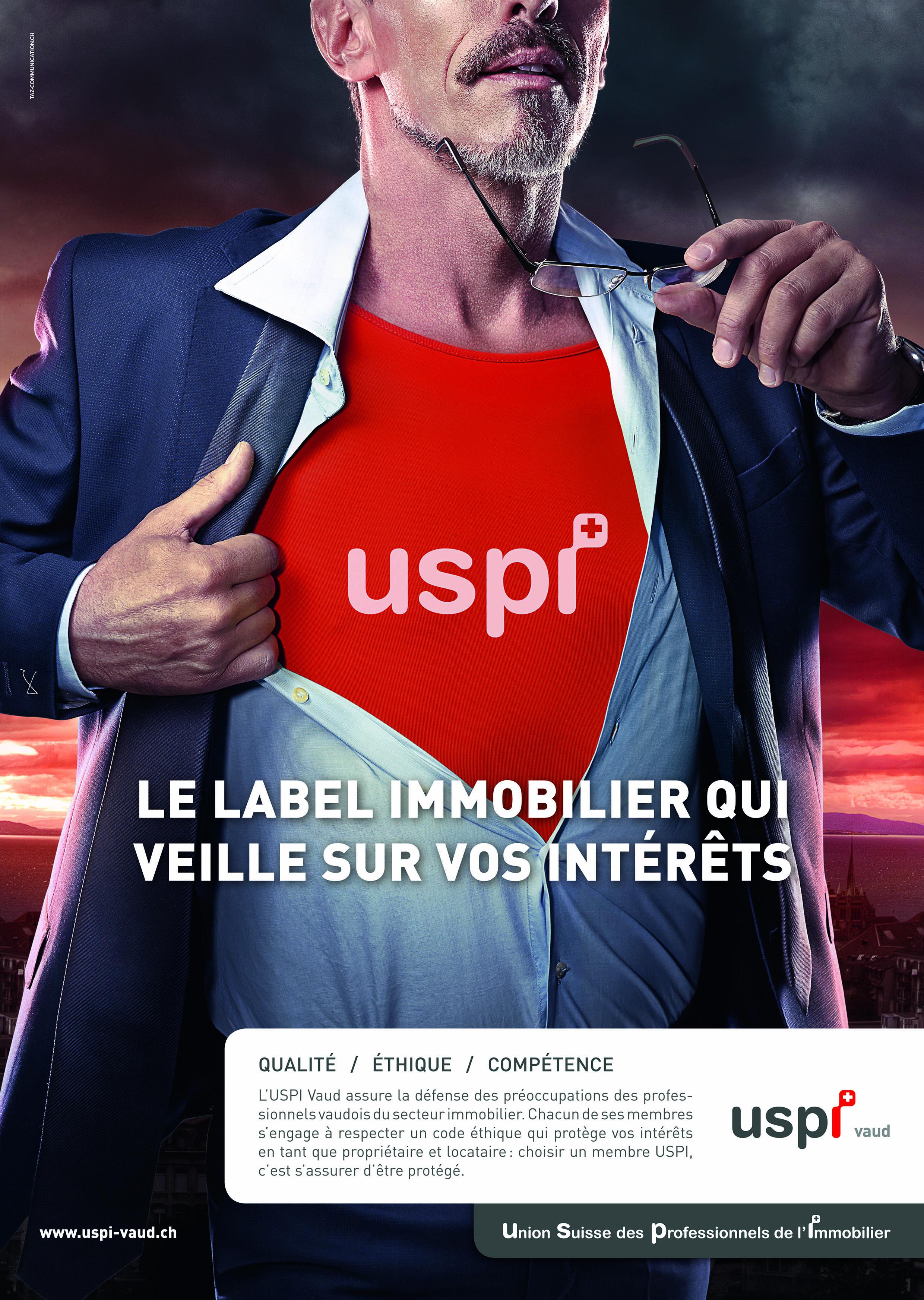 Première campagne publicitaire pour l'USPI Vaud : les supers héros veillent sur vos intérêts