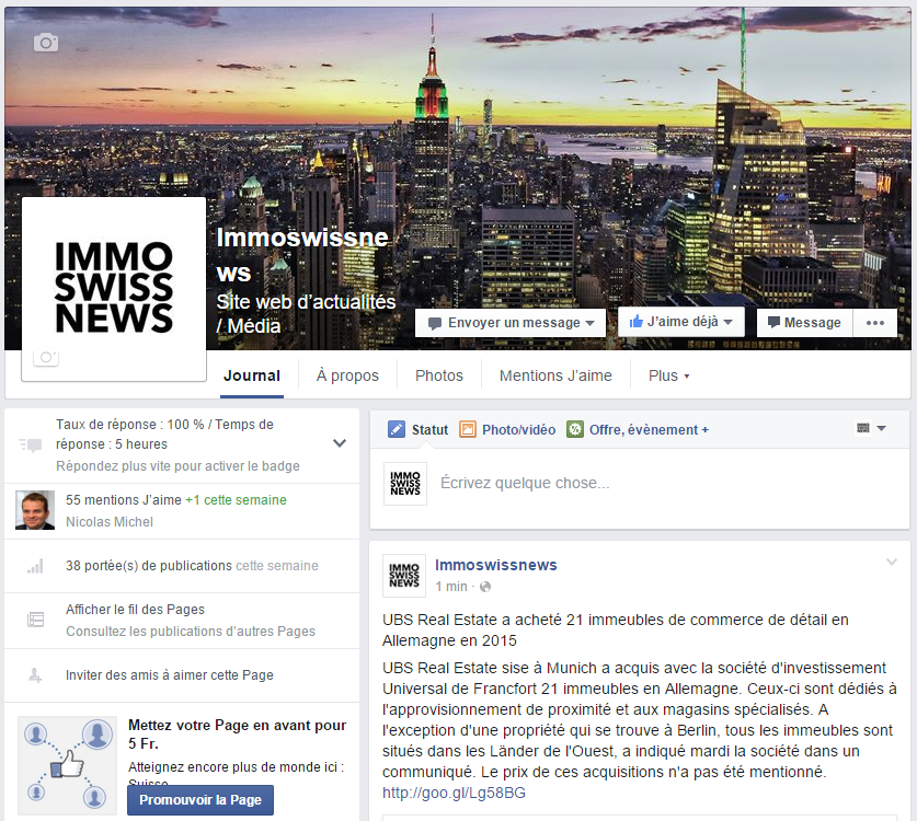 L'actualité immobilière en temps réel sur notre page Facebook