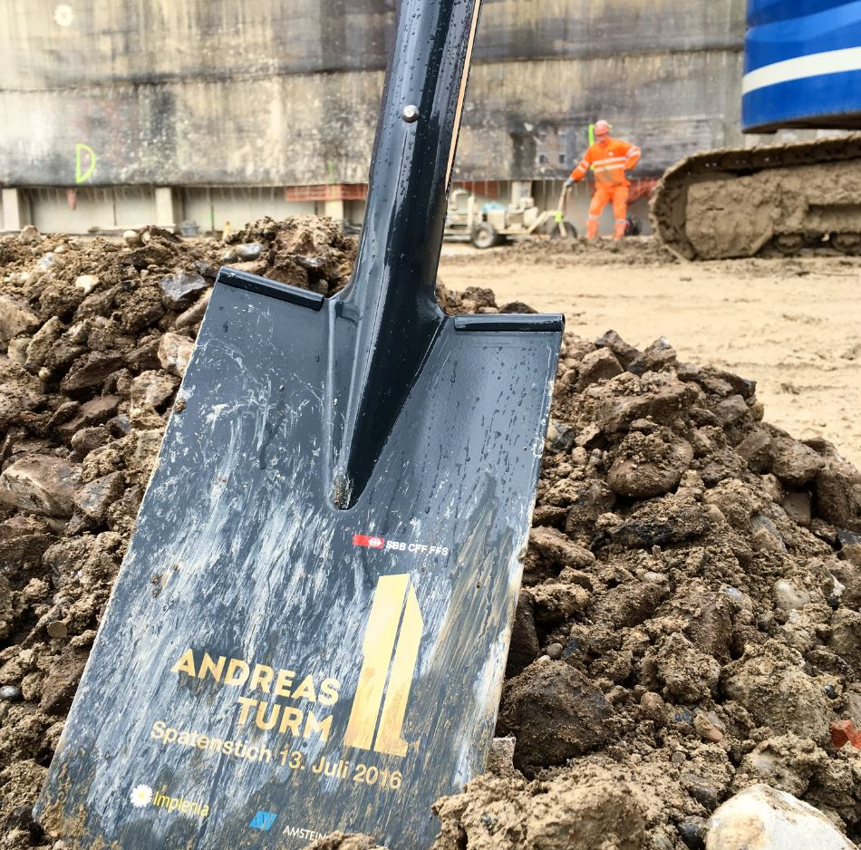 Andreasturm à Zurich-Oerlikon: le premier coup de pioche a été donné