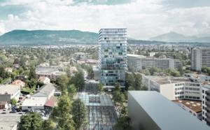 Permis octroyé et entreprise désignée pour le projet de la Tour Opale à Chêne-Bourg