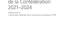 Plan directeur de la recherche énergétique de la Confédération