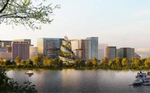 Amazon dévoile le projet de son siège social d'Arlington, en Virginie.