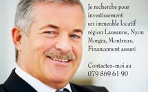 Cherche à acheter un immeuble locatif et terrains région de Genève à Montreux  : 079 869 61 90